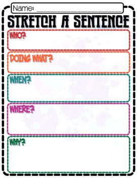 Writing: Stretch A Sentence