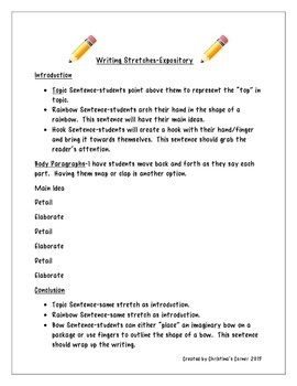 FREEBIE Writing Stretches