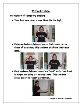 Writing Stretches with pictures