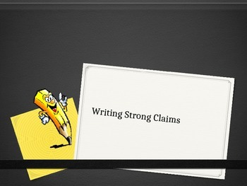 Writing Strong Claims