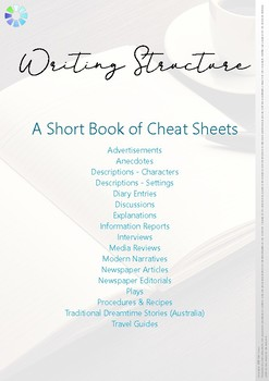 Writing Structures - A Short Booklet of Cheat Sheets