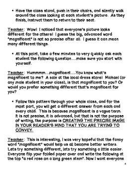 Writing:  Student's Use Their Own Vocabulary to Enhance Their Writing