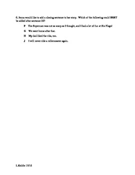 Writing Study Guide--STAAR Formatted