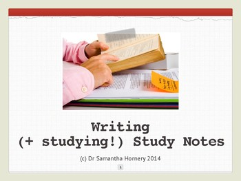 Writing Study Notes