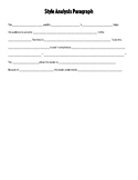 Writing Style Analysis Outline