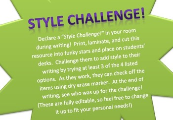 Task Cards to Improve Writing Style