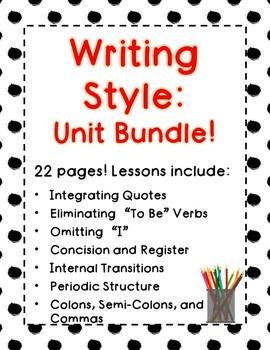 Writing Style: Unit Bundle!
