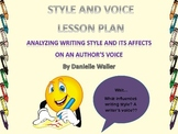 Writing Style and Authorial Voice