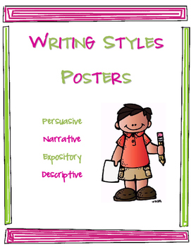 Writing Styles Posters