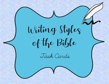 Writing Styles of the Bible Task Cards