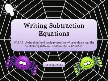 Writing Subtraction Sentences 1.OA.B.3.
