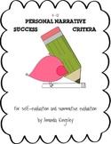 Writing Success Criteria - Personal Narratives