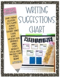 Writing Suggestions Pencil Chart