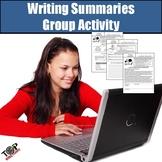 Writing Summaries Author's Purpose Main Idea Group Activity