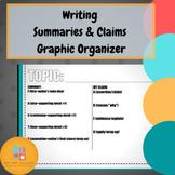 Writing Summaries and Claims Graphic Organizer