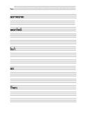 Writing - Summarizing Template