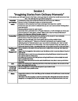 Writing Summary Grade 4 Unit 1 sample
