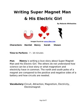 Writing Super Magnet Man & His Electric Girl - Reader's Theater