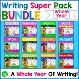 Seasonal Writing Prompts Year Long BUNDLE