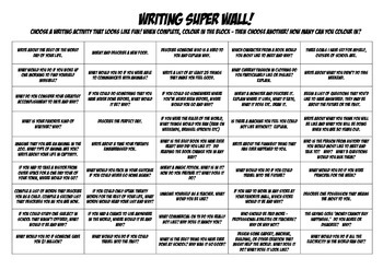 Writing Super Wall! The Best (like actually) Fast Finisher Sheet Ever!