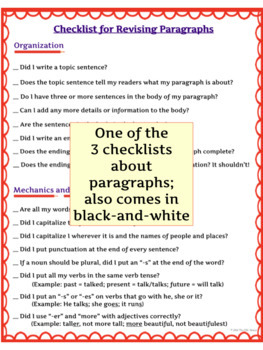 Writing Paragraphs, Summaries, Organizing Writing Into Outlines & Essays BUNDLE
