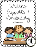 Writing Supports: Sentence Stems and Visuals