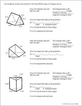 Writing Surface Area Formulas for Prisms and Pyramids GUIDED NOTES