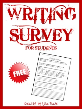 Free Writing Survey for Students