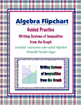 Writing Systems of Inequalities from the Graph Guided Practice (Flipchart)