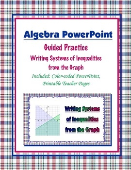Writing Systems of Inequalities from the Graph Guided Practice (PowerPoint)