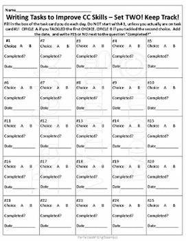 Writing TASKS to Improve CC SKILLS, SET TWO. Grades 6 7 8 9 10 11 12