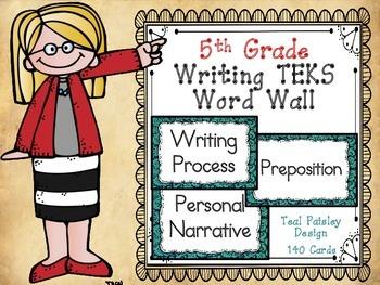 Writing TEKS Word Wall