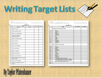 Writing Target Lists