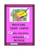 Main Idea/Detail PLUS Cause/Effect Writing Task Cards Bundle