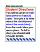 Main Idea/Detail PLUS Cause/Effect Writing Task Cards Bundle