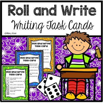 Roll and Write Writing Task Cards