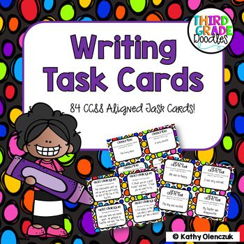 CCSS Writing Task Cards -- 84 Different Cards