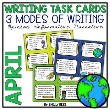 Writing Task Cards - April-Themed - 3 Common Core Modes