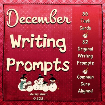 DECEMBER WRITING PROMPTS | December Task Cards | December Writing Activities