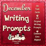 DECEMBER WRITING PROMPTS | December Task Cards | December Writing Activities
