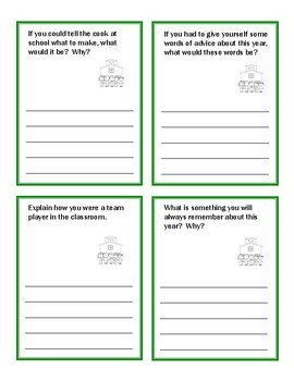 Writing Task Cards:  End of Year