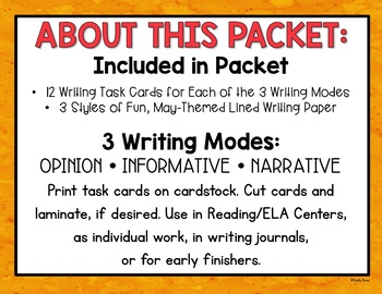 May Writing Prompts and Activities