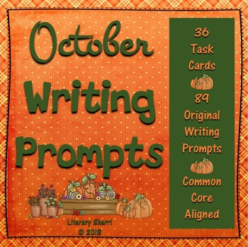 OCTOBER WRITING PROMPTS | October Task Cards | October Writing Activities