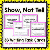 Show Not Tell Writing Task Cards
