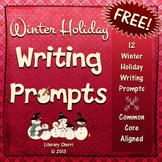 Writing Task Cards: Winter Holiday Writing Prompts (Grades 7, 8, 9, 10)