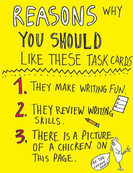Writing Task Cards and Activities