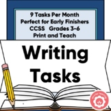Writer's Workshop Free Time Choice Cards Grades 3-6 CCSS