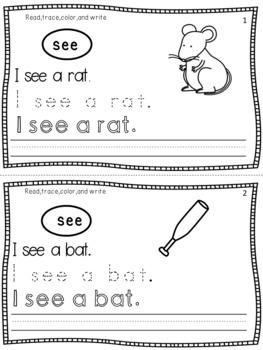 Kindergarten Sentence Writing Practice