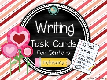 Writing Task Cards for Centers: February