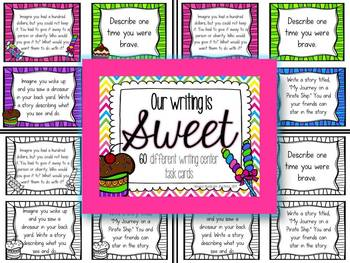 Our Writing is Sweet~60 writing prompt task cards